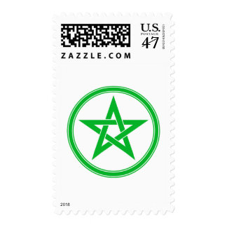 green pentacle postage