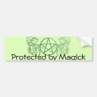 Green pentacle with flourishes bumper sticker