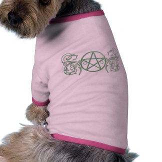 Green pentacle with flourishes pet t shirt