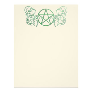 Green pentacle with flourishes letterhead