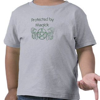 Green pentacle with flourishes tees