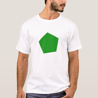Green pentagon shirt