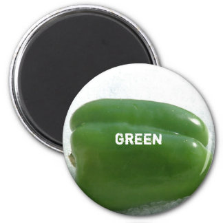 Green pepper 2 inch round magnet