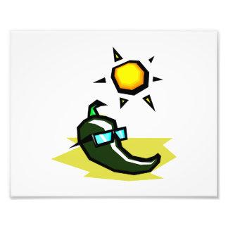 Green Pepper sunglasses sun on beach.png Photo Art