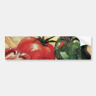 Green Pepper & Tomato Bumper Sticker