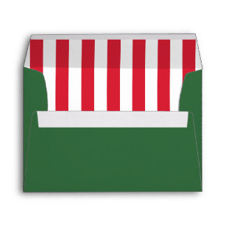 Green & Peppermint | Striped Liner | Christmas Envelope