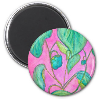 Green Peppers 2 Inch Round Magnet