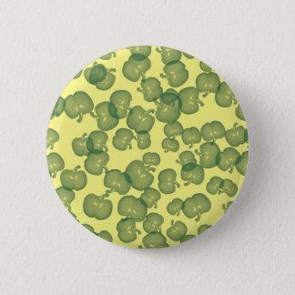 Green Peppers Design Pinback Button