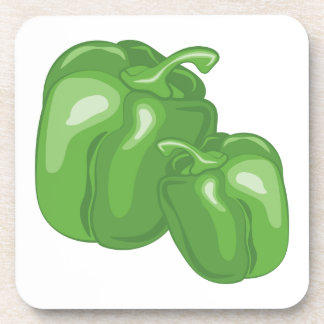 Green Peppers Drink Coaster