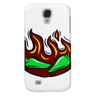 green peppers in flame graphic galaxy s4 case