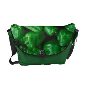 Green Peppers Messenger Bags