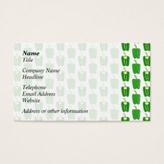 Green Peppers Pattern. Business Card