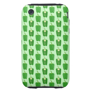 Green Peppers. Pattern. Tough iPhone 3 Cases
