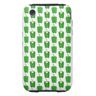 Green Peppers Pattern. iPhone 3 Tough Covers