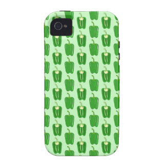 Green Peppers. Pattern. iPhone 4/4S Covers