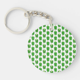 Green Peppers Pattern. Keychain