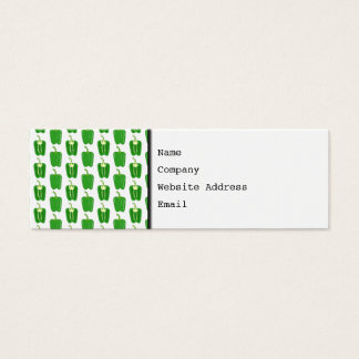 Green Peppers Pattern. Mini Business Card