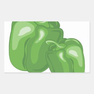Green Peppers Rectangular Sticker