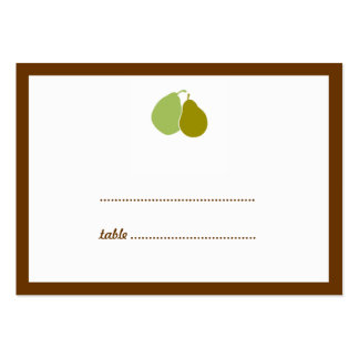 Green perfect pear wedding escort seating card