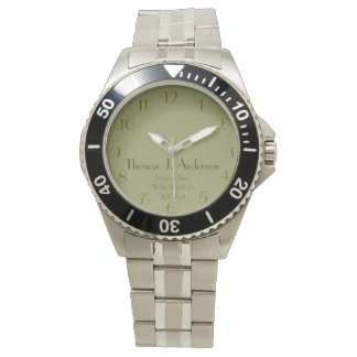Green Personalized Military Style Wristwatches