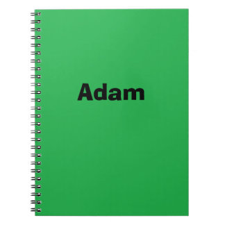 Green Personalized Notebook
