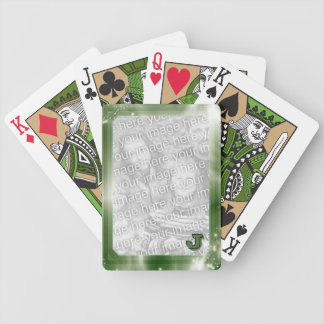 Green Personalized Photo Frame Monogrammed Bicycle Playing Cards
