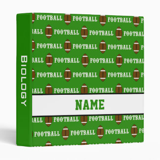 Green Personalized School Football Binder