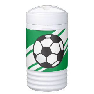 Green Personalized Soccer Igloo Beverage Cooler