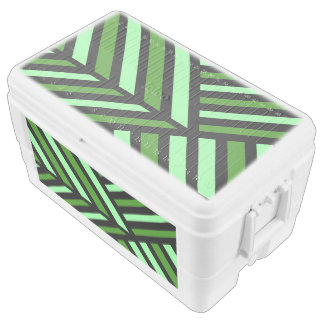 Green Perspective Bold Line Art Chest Cooler
