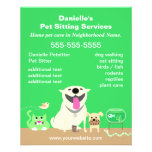 Green Pet Sitter Promotional Flyer