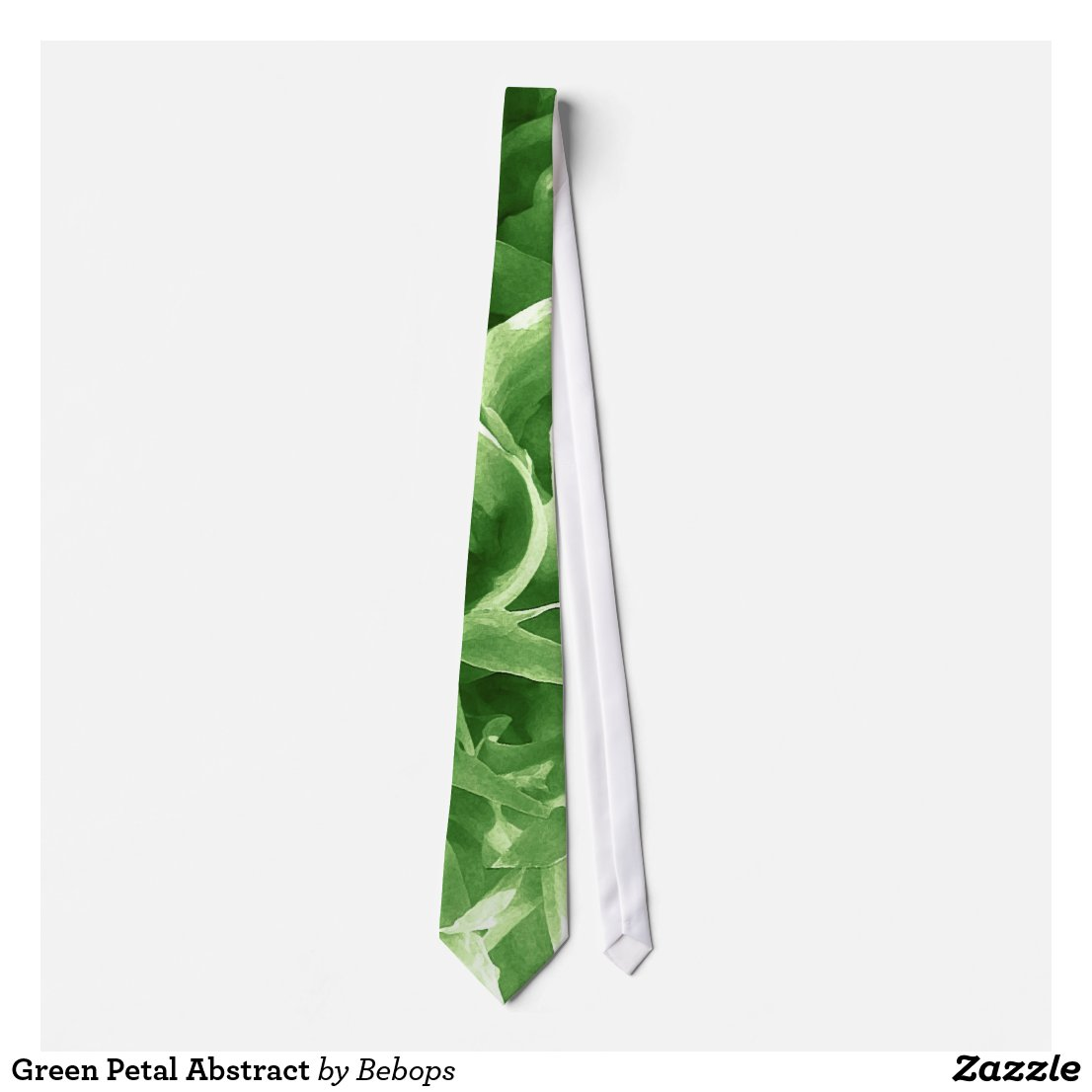 Green Petal Abstract Tie
