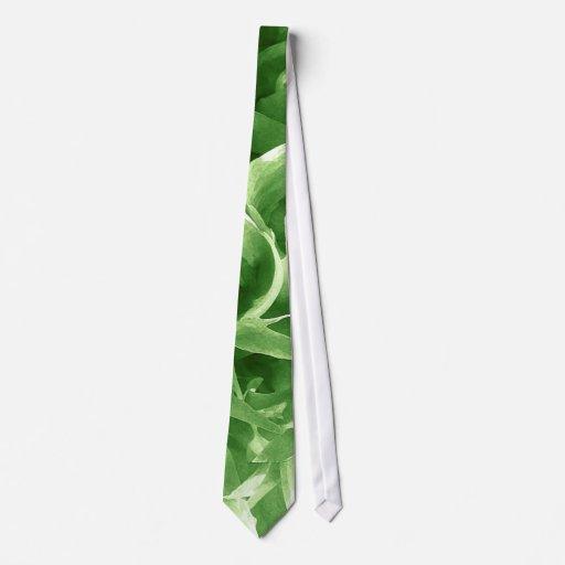 Green Petal Abstract Tie