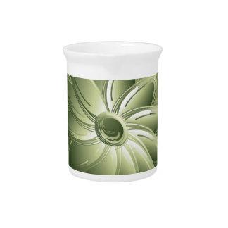 green petals beverage pitchers