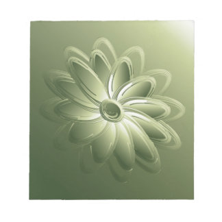 green petals notepad