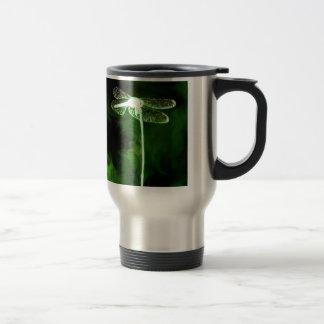 Green Phantom Dragonfly Travel Mug