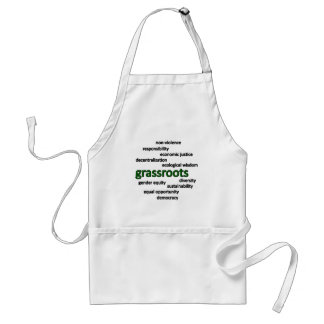 Green philosophy and values apron