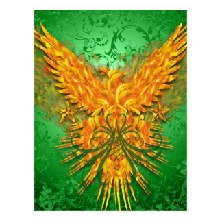 Green Phoenix Postcard