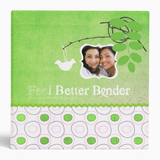 Green Photo Feel Better Binder