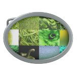 Green Photography Collage Belt Buckles