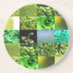 Green Photography Collage Coasters