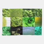 Green Photography Collage Kitchen Towel