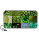 Green Photography Collage Laptop Speaker