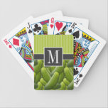 "Green Pickle; Pickles Bicycle Playing Cards<br><div class=""desc"">You will love this cute,  elegant Green Pickles; Pickle pattern design!  Visit our store,  Monogram Baby,  to view this cool,  trendy pattern on many more great customizable products,  including modern baby shower invitation postcards and girly monogram gifts!  Thank you!</div>"