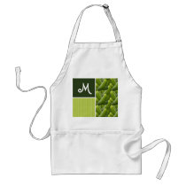 Green Pickles; Pickle Pattern Adult Apron