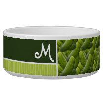 Green Pickles; Pickle Pattern Bowl