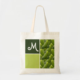 Green Pickles; Pickle Pattern Tote Bag