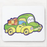 Green Pickup Truck Mouse Pad