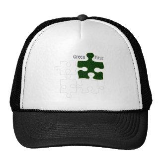 Green Piece Mesh Hat