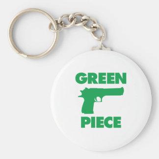 Green Piece Keychain