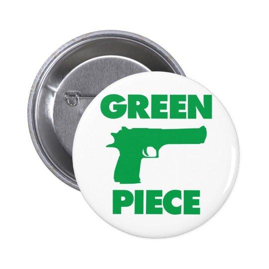 Green Piece Pinback Button